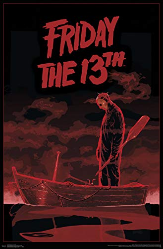 """Trends International Friday The 13th - Boat Wall Poster, 22.375"""" x 34"""", Unframed Version"""
