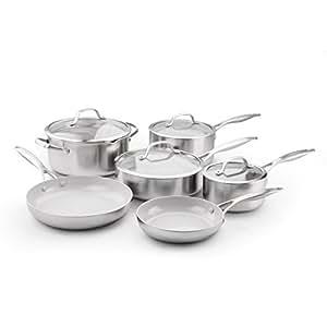 GreenPan Venice Pro Ceramic Non-Stick 10Pc Cookware Set