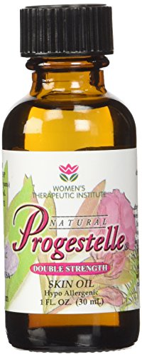 (Progestelle Progesterone Oil Purer Than Progesterone Cream, Bioidentical, Natural, Topical - NO Preservatives, NO Fragrance, NO Emulsifiers and Booklet- 1oz 800 mg/oz Double Strength )