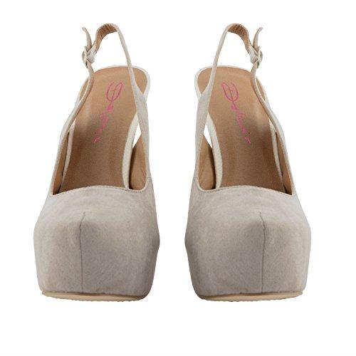 Mujer Chica Dolcis Ante Artificial Con Tira Trasera Zapatos Formales