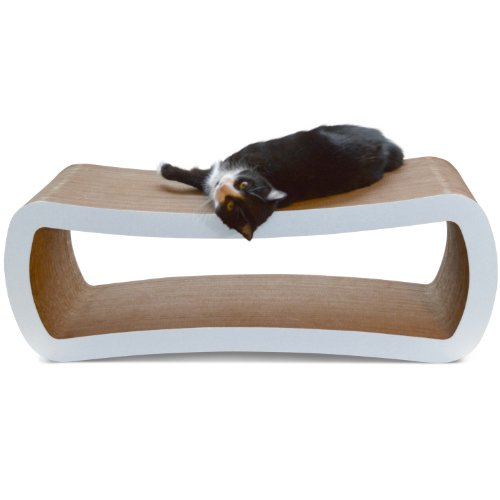PetFusion-Jumbo-Cat-Scratcher-Lounge-White-Superior-Cardboard-Construction-significantly-outlasts-cheaper-alternatives