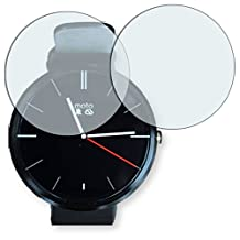 2x Golebo Crystal Clear screen protector for Motorola Moto 360 - (Transparent screen protector, Air pocket free application, Easy to remove)