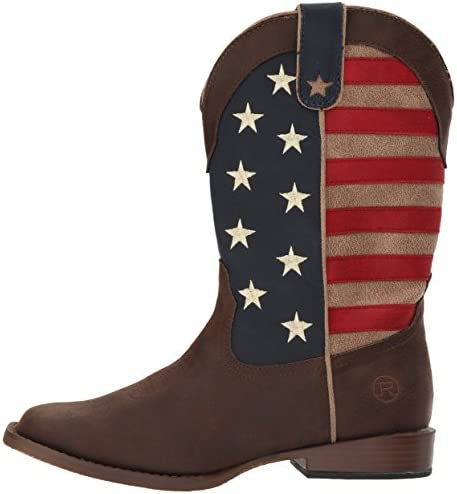Roper Unisex-Child American Patriot Western Boot