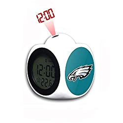 VF LSG LCD Digital Alarm Clock Multifunction LED Display Time Projection Thermometer Desktop Calendar Alarm for Young Kids Cool Football Team Logo Decoration for Fans