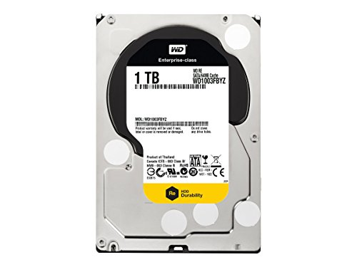 WD 1 TB WD RE SATA III 7200 RPM 64 MB Cache Bulk/OEM Enterprise Hard Drive WD1003FBYZ 4 High performance for business-critical applications Designed for quality and reliability Vibration protection