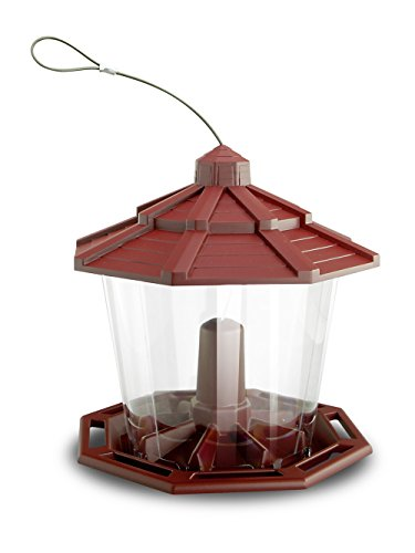Pennington 100534069 Earth Smart Recycled Ecozebo Bird Feeder Red, White
