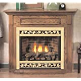 Empire Comfort Systems EMBF-3S-DO Dark Oak Standard Cabinet Mantle wit