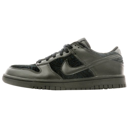 Women Nike Dunk Low (NIKE Women's Dunk Low Black/Black 309324-002 Shoe 9 M US)