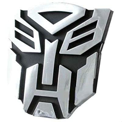 "Transformers Autobot Chrome Auto Emblem - 3"" Tall: Automotive"