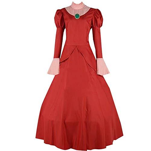 Anime Women Wicked Stepmother Red Dress Costume -