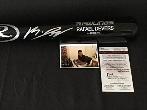 Rafael Devers Boston Red Sox Autographed Signed Black Baseball Bat JSA WITNESS COA