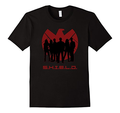 Mens Marvel Agents of SHIELD Silhouette Logo Graphic T-Shirt Medium - Shield Silhouette