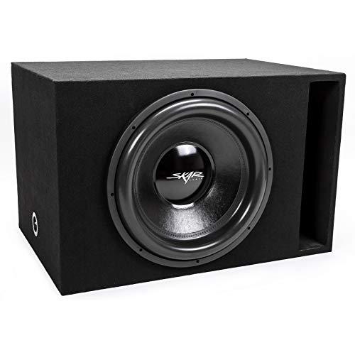 Skar Audio Single 18″ 2500 Watt Max Power EVL Loaded Vented Subwoofer Enclosure with D2 Ohm Subwoofer – Black Carpet