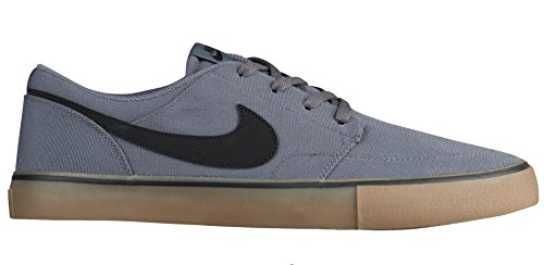 Nike Men's SB Portmore II Solar Skate Shoe Dark Grey/Black/Gum/Light Brown 10.5 M US