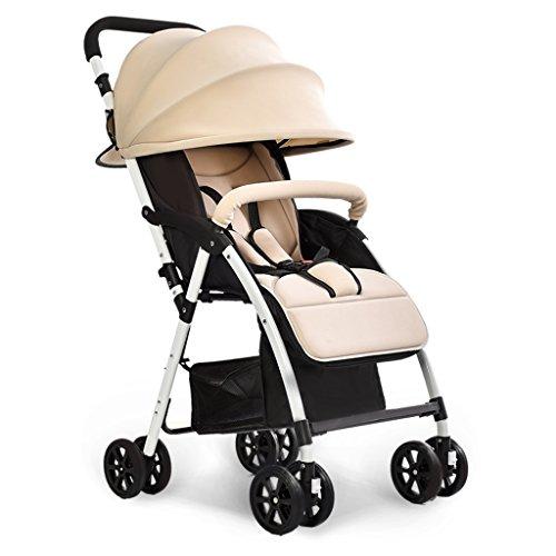 Cochecitos de bebé Plegado Ultraligero Se Puede sentar Se Puede mentir Alto Paisaje Paraguas Carrito de bebé Verano e...