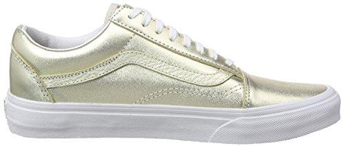 Skool Basse Wheat Unisex Metallic Scarpe Ginnastica Gold True Oro White da Zip Old Leather – Vans Adulto A5wYCqO