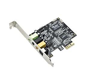 Syba SD-PEX63034 7.1 Channel Surround Digital/Analog PCI-e Sound Card, VIA VT1723 Envy24DT Chipset