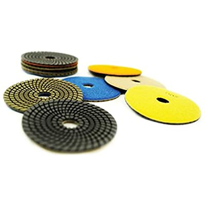 "NED NPPP040100 4"" x 5/8"" Premium Wet Polishing Pad 100 Grit: Industrial & Scientific"
