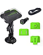 ZOLEO Universal Mount Accessory Kit Including RAM Twist-Lock Suction Cup Mount, DC Car Charger with USB Cable, and 3 Inserts – Belt Clip, Strap Infill Connector and Camera Tripod Mount