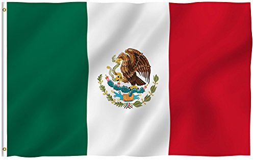 Mexico Flag 3x5 Foot - Double Stitched Mexican MX National F