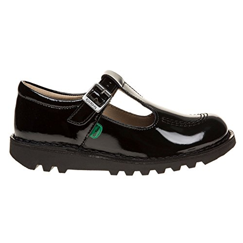 Kickers Kick Lo T Patent Infants Zapatos Negro Schwarz