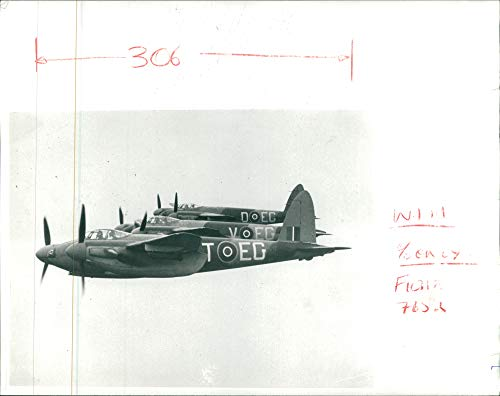 Mosquito Twin Engine (Vintage photo of de Havilland Mosquito Combat aircraft:)