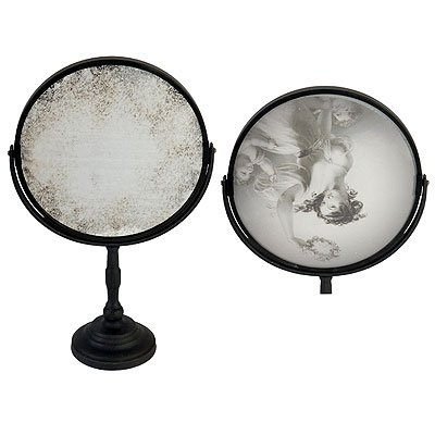 Round Antiqued Tilting Lady Table Mirror 15'' by FantasticDecor