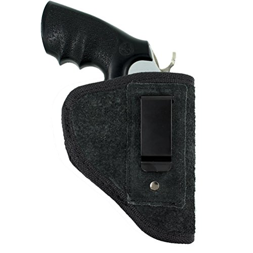 Creatrill Suede Leather Inside The Waistband Holster | Fits Most J Frame Revolvers / Ruger LCR / Smith & Wesson Body Guard / Taurus / Charter / most .38 special type | Gun Concealed Carry IWB Holster