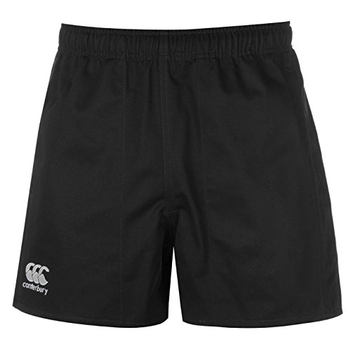 Canterbury Mens Pro Rugby Shorts Pants Trousers Bottoms Cotton Black Large