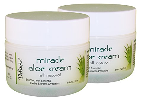 Deluvia Miracle Aloe Cream, 8 Fluid Ounce Jar (2-Pack) (Aloe Cream compare prices)