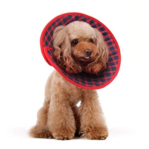 Alfie Pet - Candace Soft Recovery Collar (for Dogs and Cats) - Color: Red Flannel, Size: Medium