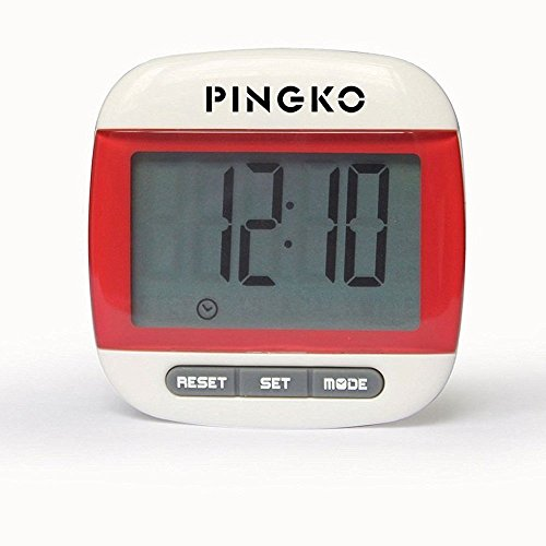 PINGKO Portable LCD Digital Multi Pedometer Calorie Counter Walking Step Distance Pedometer with Clock