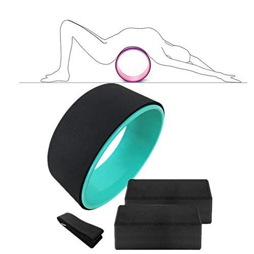 WESEEDOO Yoga Rad Yogaring Yoga Prop Wheel erhöht die Flexibilität Yoga Wheel Yoga Haltung Flexibilität der Ringbiege- und Stretchwalze Pilates-Übungsrad