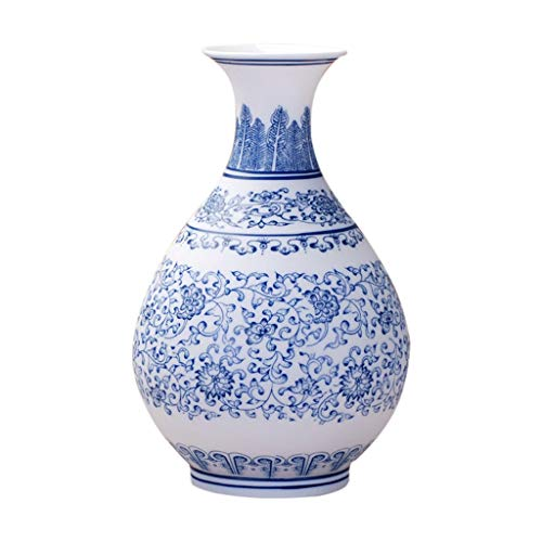 Vases Ceramic Classical Creative High-Grade for Decoration Art Home Household Wedding Living Room Bedroom Office Table Blue 15 x 24 cm Fillers (Fillers Creative Vase 15)