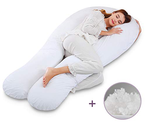 Marine Moon Pregnancy Pillow U Shaped, Full Body Maternity Pillow with Jersey Cover and Extra Filling, Jumbo Size 69