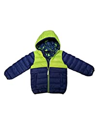 Paradox Boys Packable Duck Down Jacket with Hood, 650 Fill Power (Green/Blue, Age 4 or 5)