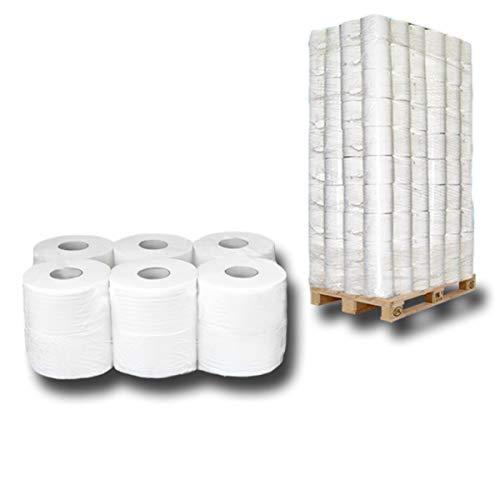 Pallet Jumbo-toiletpapier, jumbo-rollen, wc-papierrollen, 2-laags cellulosepapier, ca. 18cmx150m – Premium