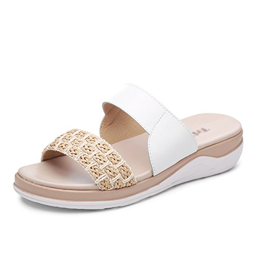 Leisure Summer ZCJB Woman Wear White Slippers Shoes Women Bottom Out Flat Slip Non Outer Sandals Pregnant 7wpE5dxw