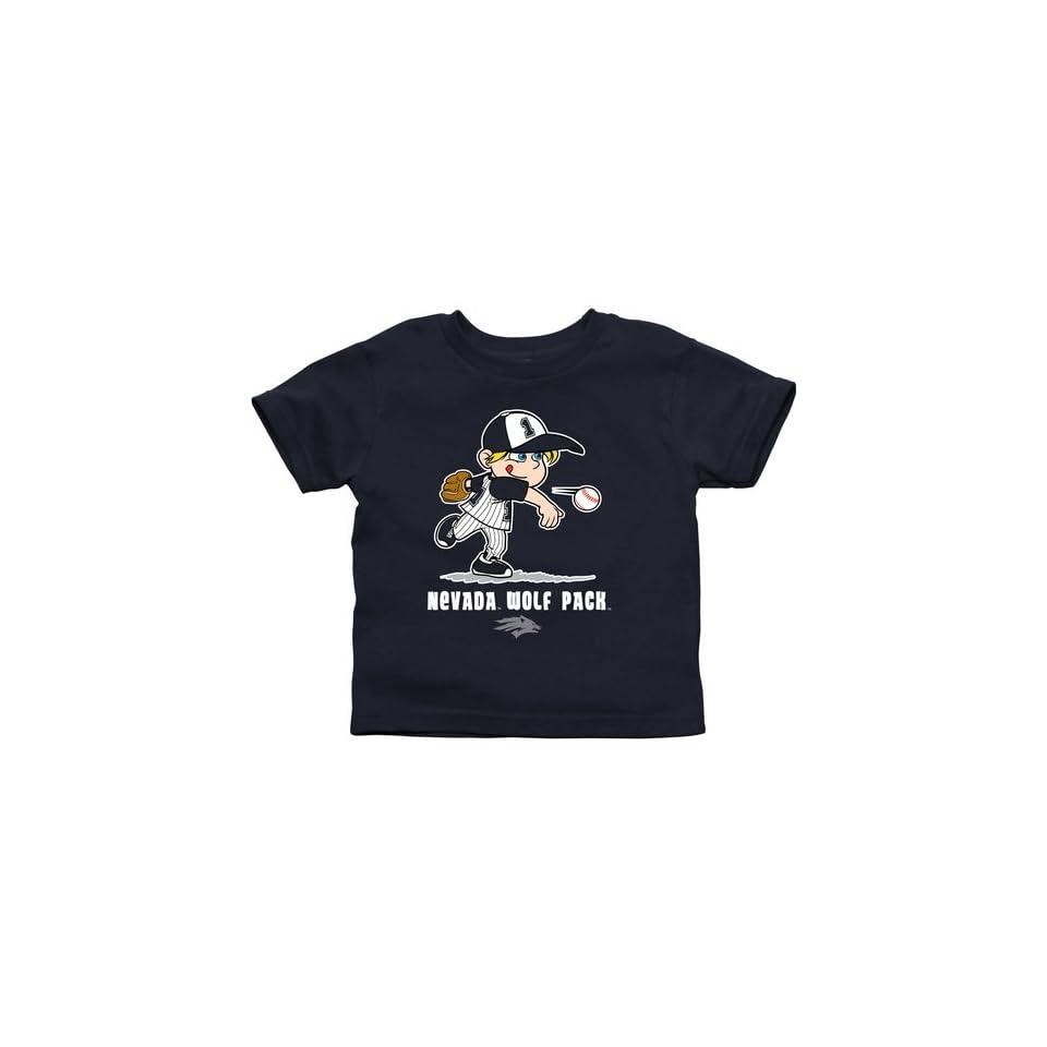 Nevada Wolf Pack Toddler Boys Baseball T Shirt   Navy Blue