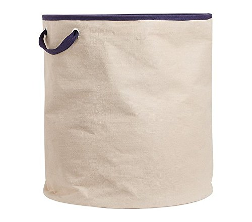 My Gift Booth Canvas Laundry Bag, Navy Blue