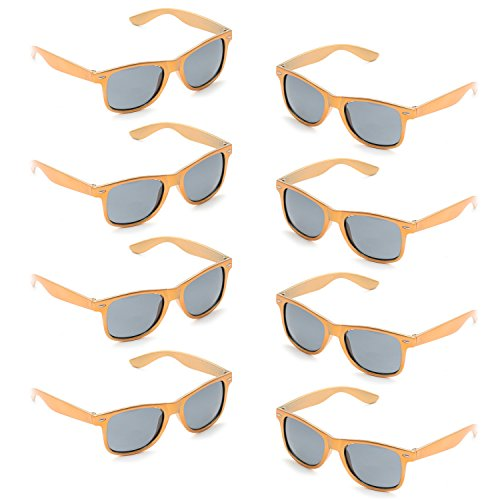 (Neon Colors Party Favor Supplies Unisex Sunglasses Pack of 8)