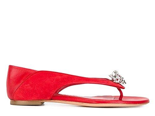 Alexander McQueen Sandalias de Vestir Para Mujer Rojo Rojo It - Marke Größe