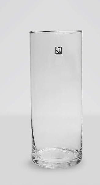Maison Zoe Handgefertigte Zylinder Glasvase Blumenvase-Ø10cm-15cm hoch