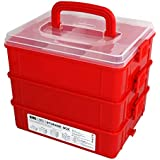 Bins & Things Stackable Toys Organizer Storage Case Compatible with LOL Surprise Dolls, LPS, Shopkins, Tsum Tsum and Lego - Portable Adjustable Box w/Carrying Handle