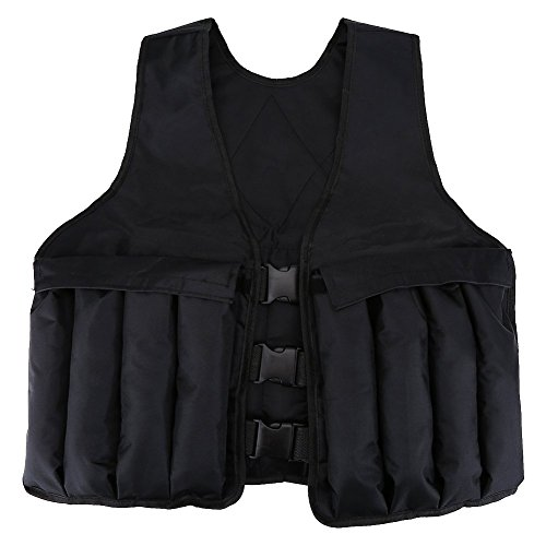 Alomejor Weighted Fitness Vest, Black Adjustable for Strength Training Exercise Workout Sports by Alomejor