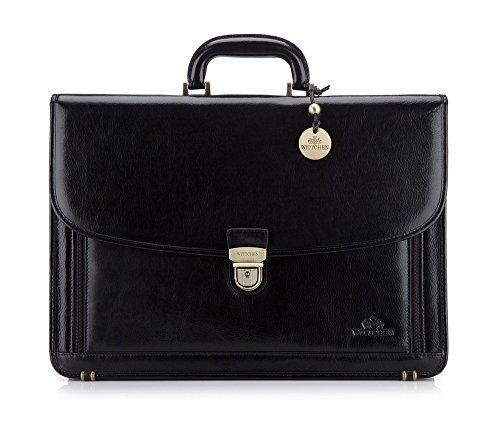 3 21 de Noir 1 grain Italy 32 44 023 x Noir cm Taille Wittchen Collection Couleur Matériel Cuir Dossier q6U188Z