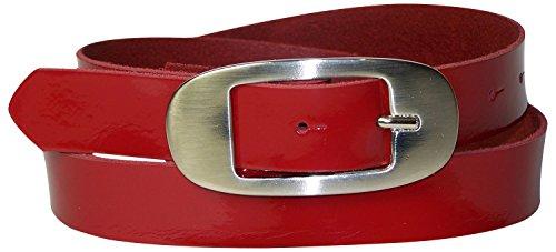 Vernice Fibbia In Laccata 18213 3 Lacca Argento Fronhofer Ovale Vera Da Alta Cintura Rosso Pelle Cm Con Donna Articolo 6txzIxq