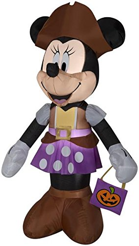 (Airblown 5ft Minnie Mouse in Pirate Costume Halloween)