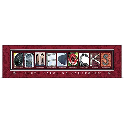 (GREATBIGCANVAS Poster Print Entitled Gamecocks - University of South Carolina Campus Letters by Campus Letter Art 60