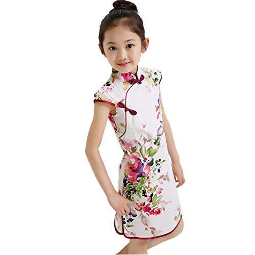 1-9Y Summer Vintage Baby Girls Dress Elegant Chinese Style Children Clothing Costume Kids Dresses for Girls Clothes,Style Nineteen,9]()